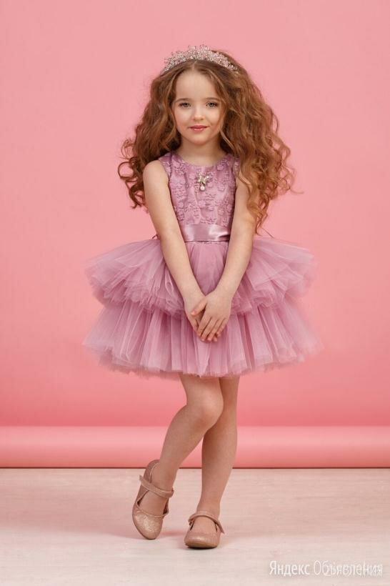Платье Зиронька 38-8005-5 р.98-128 см сиреневое (98 см) по цене 1990₽ - Платья, фото 0
