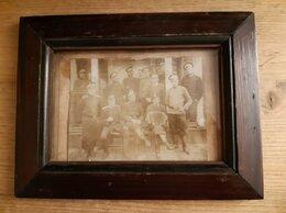 Фотографии и письма - Старинная фотография в раме. Военные. Кон. 19…, 0
