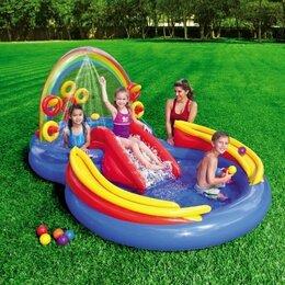 Надувные комплексы и батуты - Детский надувной бассейн с горкой, 0