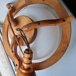 Люстры и потолочные светильники - Люстра,дерево,Польша,диаметр около 35 см, 0