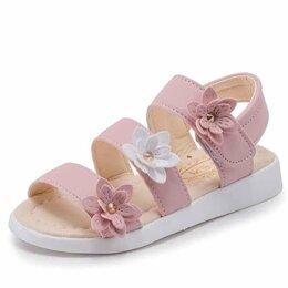 Босоножки, сандалии - Босоножки с цветами для девочек, 0