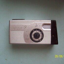 Пленочные фотоаппараты - Фотоаппарат миниатюрный, узкоплёночный в рабочем состоянии. , 0