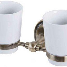Мыльницы, стаканы и дозаторы - Veragio Стакан для зубных щёток 2 -ой настенный Veragio Bonjour VR.BNR-7842 б..., 0