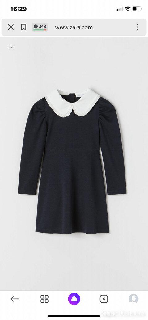 ZARA платье школьное синее для девочки по цене 1899₽ - Платья и сарафаны, фото 0