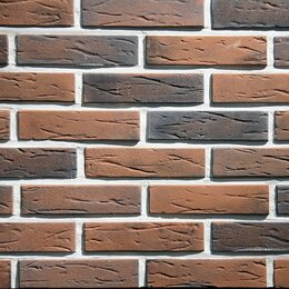 Облицовочный камень - Тонкостенный декоративный кирпич Лион Брик, 0