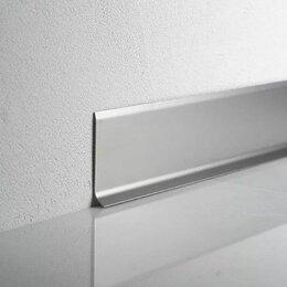 Плинтусы, пороги и комплектующие - Плинтус напольный алюминиевый ПТ 100 серебро, 0