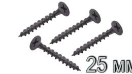 Шурупы и саморезы - Саморез 3,5*25 редкая/резьба черный, 0