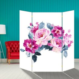 """Ширмы - Ширма """"Цветы"""", 160 × 160 см, 0"""