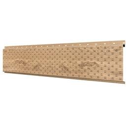 Стеновые панели - Софит, линеарная потолочно-стеновая панель ПЕРФОРИРОВАННАЯ Светлое Дерево 3D..., 0