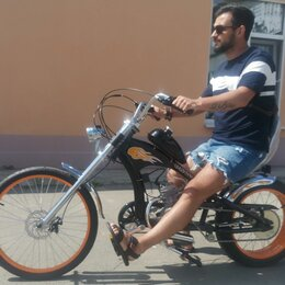 Велосипеды - Велосипед с мотором OKK-32003M Chopper со склада, 0