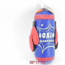 Тренировочные снаряды - 1toy Боксерский набор груша+перчатки сине-красная 36*17*13, 0