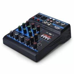 Микшерные пульты - Новый 4-х канальный микшерный пульт с MP3 и аудиокартой EYK ECR4, 0