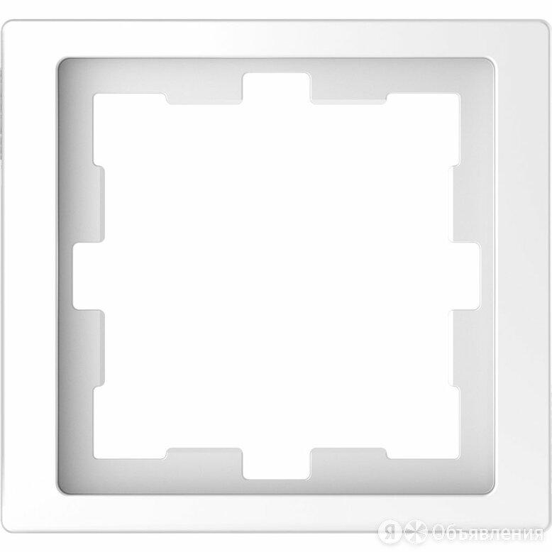 Рамка Schneider Electric Merten D-Life 1 пост. Белый лотос по цене 260₽ - Другое, фото 0