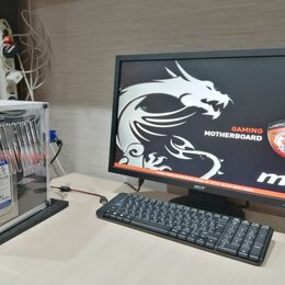 Настольные компьютеры - Игровой мини ПК I5, B85i Gaming, 8Gb DDR3, GT1030, HDD, SSD, 0