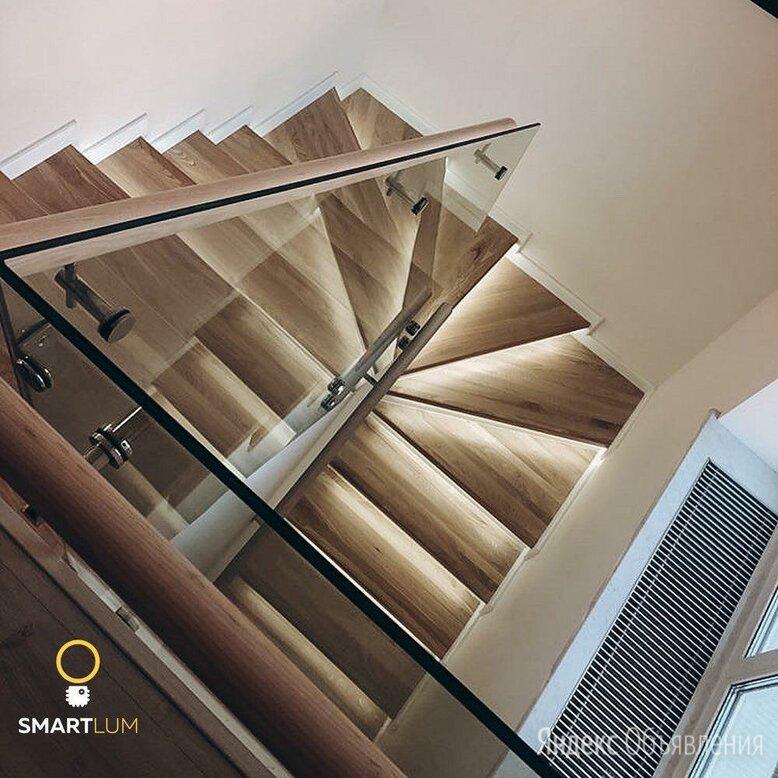 Автоматическая подсветка лестницы с забежными ступенями, Умный свет по цене 7500₽ - Интерьерная подсветка, фото 0