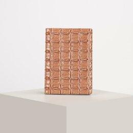 Обложки для документов - Обложка для паспорта, кайман, цвет розовый, 0