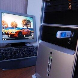 Настольные компьютеры - Актуальный мощный Пк для игр/работы/графики+Вин10, 0