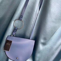 Сумки - Маленькая синяя сумка полумесяц sela, 0