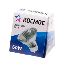 Лампочки - Лампа галогенная CL JCDRC 50Вт GU10 3000К 750Лм 50х57мм КОСМОС, 0