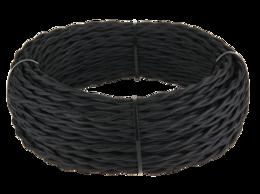 Кабели и разъемы - Ретро кабель витой 3х2,5 (черный) Werkel 20 м…, 0