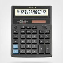 Калькуляторы - Калькулятор  настольный  Skainer SK-777M  12 раз. (аналог SDC-888TII), 157*200*3, 0