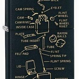 Пепельницы и зажигалки - Зажигалка Zippo 76182 Anatomy Of Lighter, 0