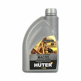 Масла, технические жидкости и химия - Huter Масло 2Т полусинтетика для двухтактных двигателей, 1л  Huter, 0