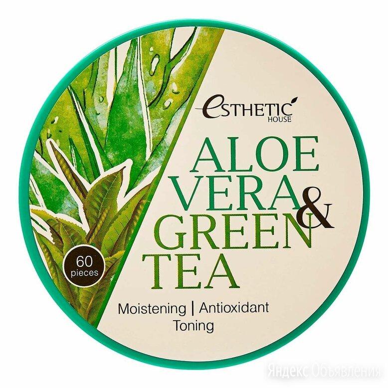 ESTHETIC HOUSE Увлажняющие патчи для глаз Aloe Vera&Green Tea Hydrogel, 60 шт... по цене 1300₽ - Для глаз, фото 0