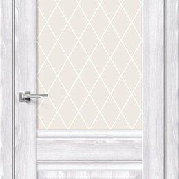 Межкомнатные двери - Межкомнатная дверь с экошпоном Прима-3 Riviera Ice   White Сrystal, 0