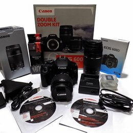 Фотоаппараты - Фотоаппарат зеркальный Canon EOS 600D Double Zoom Kit, 0