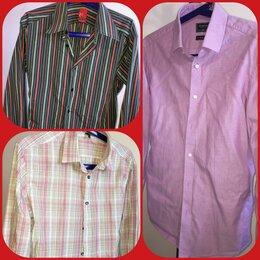 Рубашки - 🔥Мужские фирменные приталенные рубашки с длинным рукавом р. S, M, L, 0