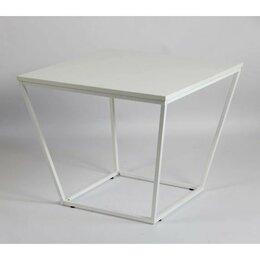 Столы и столики - Стол журнальный КВАРТА 600х600х480 белый/белый глянец, 0