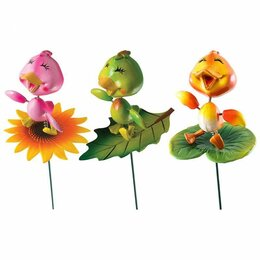 Аксессуары для садовой мебели - Садовый штекер PARK Утенок на цветке, 0