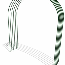 Парники и дуги - Дуги для парника металлические  ПВХ L= 4 м Комплект 6 шт, 0