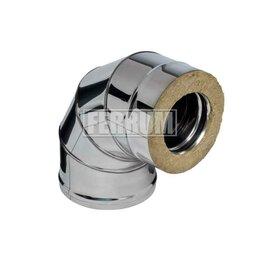 Дымоходы - Сэндвич-колено 90° (430/0,8мм + нерж.) D 115х200 Ferrum, 0
