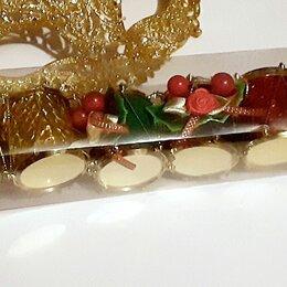 Ёлочные украшения - Новогодние игрушки набор барабанов 6 шт пластик в тубе новый шар декор, 0