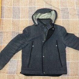 Куртки - Осенне-зимняя мужская куртка на молнии c капюшоном, 0