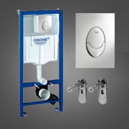Комплектующие - Инсталляция Grohe Rapid SL 38721001, в сборе с Skate Air хром, 0