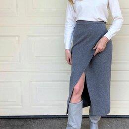 Юбки - Повседневная юбка трикотаж на запах 42,44,46,48 , 0