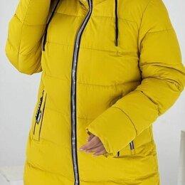 Куртки - Женская зимняя удлинённая куртка р-ры 48-62, 0