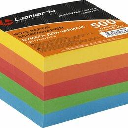Топливные материалы - Блок  д/зап. прокл. цветной  85*85*500л  Lamark, 5цв. интенсив (18), 0