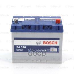 Аккумуляторы и комплектующие - Акб Bosch  S4/12v 70ah 630a (D261 X D175 X H220..., 0
