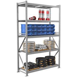 Мебель для учреждений - Стеллаж Практик MS Pro 250/150*60/5 полок, серый (ПОД ЗАКАЗ), 0