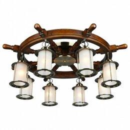 Люстры и потолочные светильники - Потолочная люстра Omnilux Ferro OML-50307-08, 0