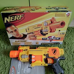 Игрушечное оружие и бластеры - Бластер Nerf N-Strike Barricade RV-10 со стрелами , 0