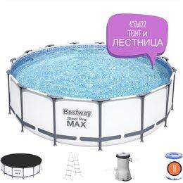 Бассейны - Бассейн каркасный Steel Pro Max 457х122 тент…, 0