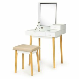 Столы и столики - Туалетный столик косметический стол с зеркалом +…, 0