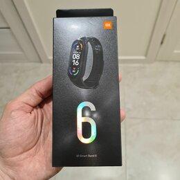 Умные часы и браслеты - Xiaomi Mi band 6. Новый. Черный, 0