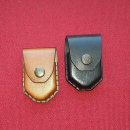 Пепельницы и зажигалки - Чехол для зажигалки зиппо кожаный ручной работы , 0