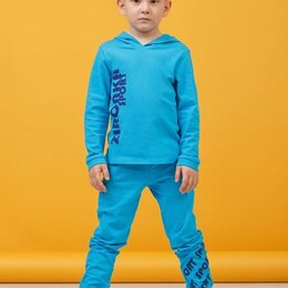 Одежда и обувь - Комплект Зиронька 64-8018-1 (джемпер+брюки) р.98-128 см синий (110 см), 0